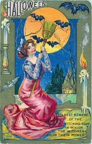 victorian card halloween greetings