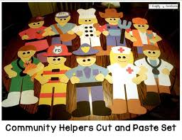 community helpers cut and paste set cut and paste community
