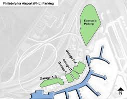 philadelphia international airport map philadelphia airport parking phl airport term parking rates