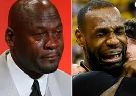 Jordan Crying Meme - crying lebron or crying jordan talkpath news