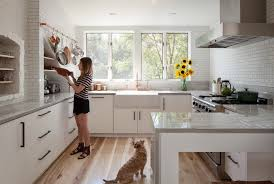 what color kitchen cabinets go with hardwood floors how wood flooring warms up a white kitchen
