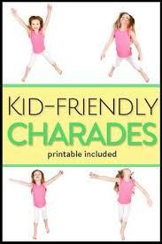 animal charades kids free printable charades game charades