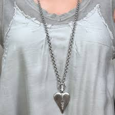 crystal heart pendant necklace images Danon jewellery long large silver crystal heart necklace jpg