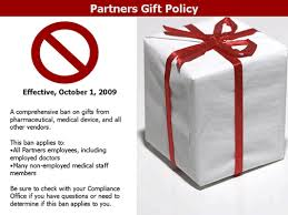 gifts between vendors and partners employees about partners