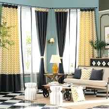 Gray Chevron Curtains Gray Chevron Curtains Living Room Yellow Jacquard Linen Cotton