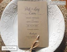 Rustic Wedding Program Fans Rustic Wedding Fan Program Template With A Romance Pinterest