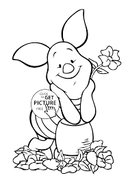 pooh piglet coloring page for kids free printable
