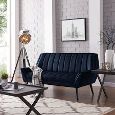 navy blue velvet sofa handy living houston mid century modern navy blue velvet sofa free
