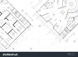 architectural layout floor plan grid lines stock illustration