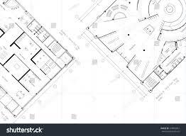 layout floor plan architectural layout floor plan grid lines stock illustration