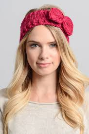 headband with bow winter knit bow headband