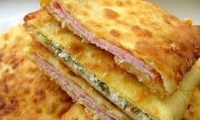 schnelle küche rezepte frühstück joghurt taschen mit schinken oder käse gefüllt