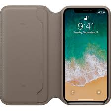 iphone x leather folio taupe apple