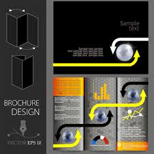 graphic design templates for flyers yellow annual report leaflet brochure flyer template free vector