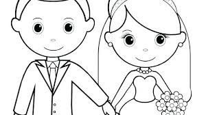 printable coloring pages wedding wedding coloring books for kids vestonosets info