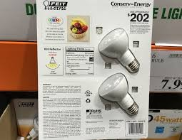 feit electric r20 flood 45 watt led light bulb 2 pack costco