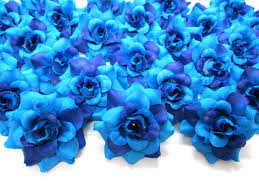 blue roses 100 silk two tone blue roses flower 1 75