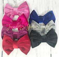 wholesale hairbows 5 velvet bows no velvet hair bows large hair bows