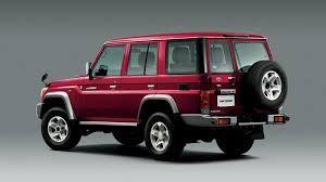 red land cruiser toyota re launches original land cruiser 70 in japan