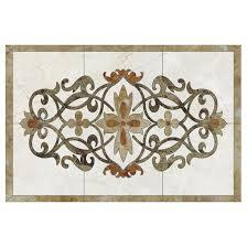 design waterjet medallion marble pattern
