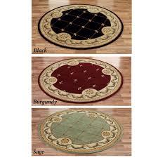 jewel fleur de lis round rugs
