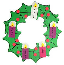 advent wreath kits christmas arts crafts kit for kids foam hanging