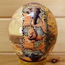 decorated ostrich eggs for sale painted ostrich egg sw3036 for sale at safariworks taxidermy sales