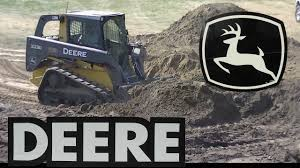 john deere 323d tracked skid steer working youtube