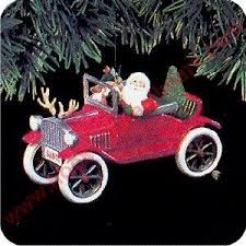 1991 here comes santa 13 santa s antique car hallmark ornament