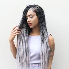 black grey hair catface hair black grey ombre jumbo braiding hair catface hair