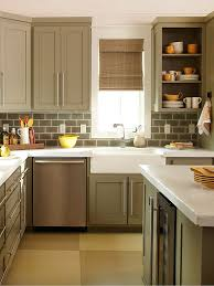 make a small kitchen look larger contrast color woodwork and