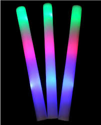 mix color led foam stick glow for wedding party decoration camping