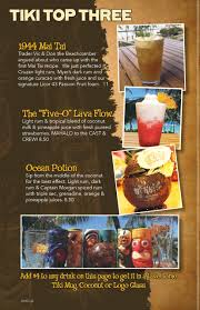White Oak Rum On A Table Drink Menu Tiki U0027s Grill