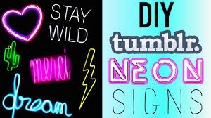 diy neon light up signs rosaliesaysrawr youtube