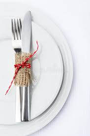 how to set a table with silverware simple table setting with white plates and silverware stock photo
