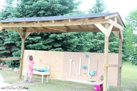 diy shaded outdoor play area for kids our piece of earthour