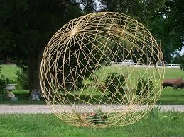 metal garden yard balls spheres