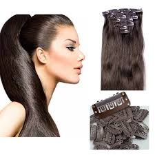 16 Inches Hair Extensions by 16 Inch Clip On Hair Extensions Celebrity Strands Color 2