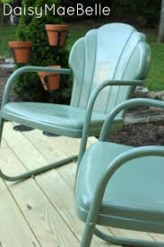 How To Spray Paint Patio Furniture Best 25 Painting Metal Chairs Ideas On Pinterest Paint Metal