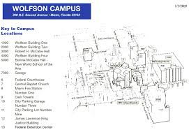 Boston College Campus Map by Miami Dade Wolfson Campus Map Miami Dade College Wolfson Campus