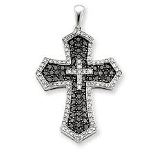 necklace cross diamonds images Diamond cross pendant in 14k white gold for christmas sale online jpg