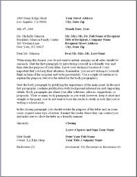 formal business letters templates business letter template word