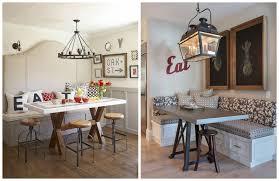 dining room cozy dark banquette seating with cozy pergo flooring