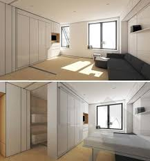 Movable Walls For Apartments Flexible Interiors 13 Shape Shifting Small Apartments Urbanist