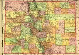 colorado state map 1895 colorado mappery