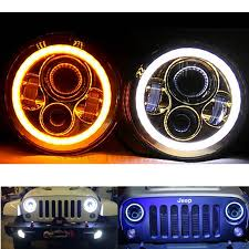 round led lights for jeep jeep wrangler tj jk 7 inch led headlight x 2 new projector lens