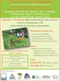 native plants landscaping partners for native landscaping workshop 2017 bring conservation
