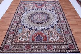 Signed Persian Rugs 9x6 Gonbad Tabriz Persian Rugs Dome Design Gombad Jafari Tabriz