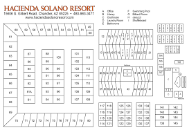 Mesa Arizona Map by Mesa Az Area Mobile Home Park Map Hacienda Solano Resort