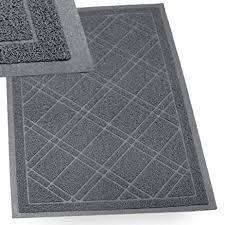 Patio Door Mat Sliptogrip Gray Universal Plaid Door Mat With